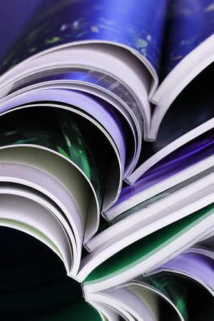 magazine on blue background Stock Photo - 10091089