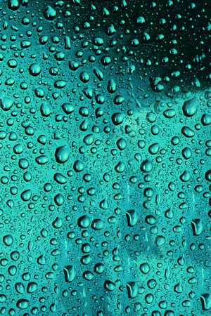 Blue water Drops background photo