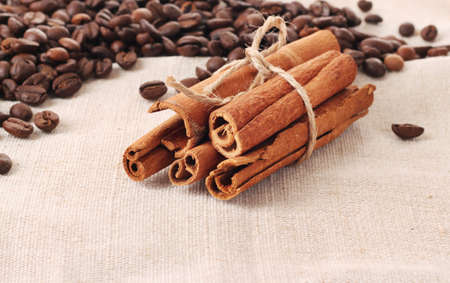 Coffee  and vanilla background Stock Photo - 10119129