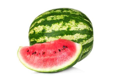 Frische Wassermelone isoliert auf weiß Standard-Bild - 10119082