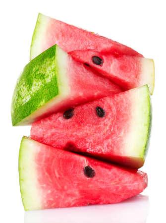fresh watermelon isolated on white photo