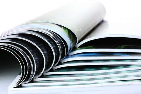 many magazines isolated on white Stock Photo - 10202399