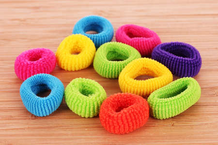 scrunchie: hair scrunchies on brown background