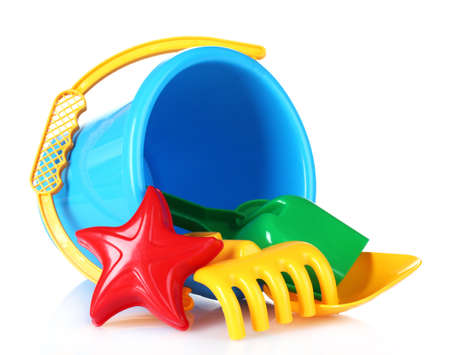 plaything: childrens beach toys isolated on white