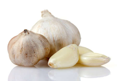 garlic isolated on white Stock Photo - 10321115