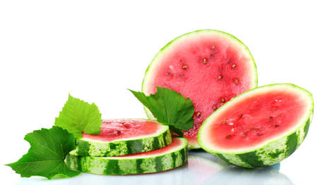 ripe sliced watermelon isolated on white Stock Photo - 10327316