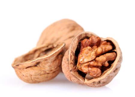 tasty walnuts isolated on white photo