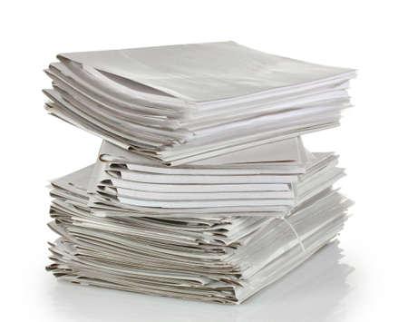 informe comercial: carpeta gris aislado en blanco