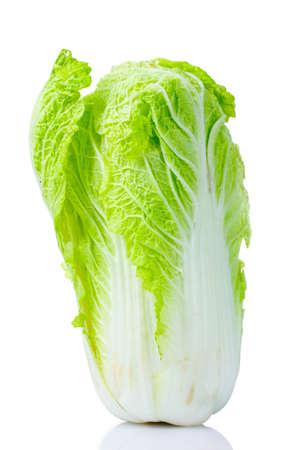 tasty Chinese cabbage isolated on white