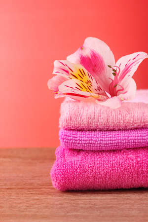 flower and towel photo