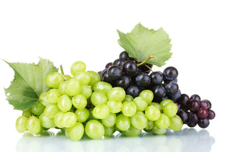 Ripe red grapes isolated on white Stock Photo - 10589262