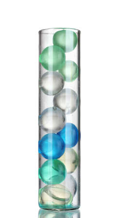reagents: Test-tube with hydrogel isolated on white