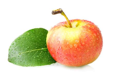 Ripe tasty apple isolated on white Stock Photo