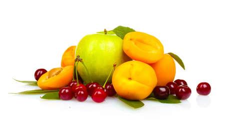 tasty summer fruits isolated on white Stock Photo - 10670295