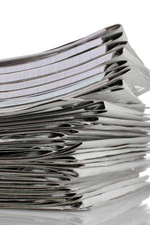 gray folder isolated on white Stock Photo - 10670883