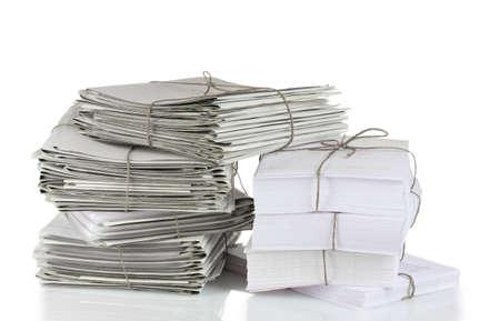 gray folder isolated on white photo