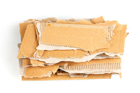 Torn cardboard isolated on white photo