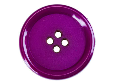 buttons sew: Close up of sewing button isolated on white
