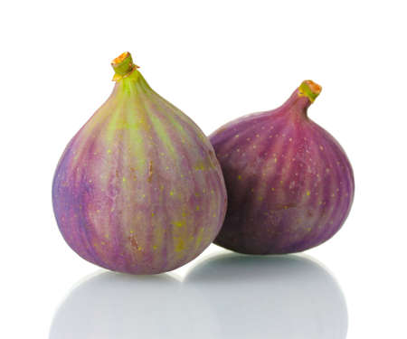 purple fig: Ripe figs isolated on white