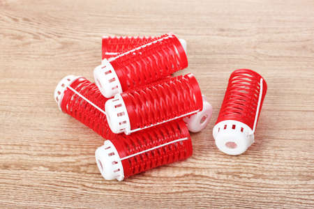 red hair curlers photo
