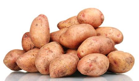 eyespot: Potatoes isolated on white