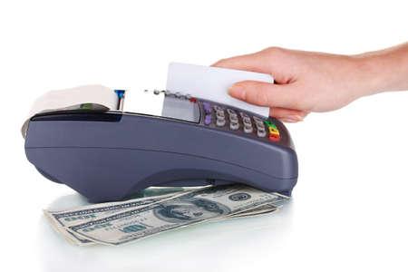 feldolgozás: banki terminál és hitelkártya-feldolgozás elszigetelt fehér