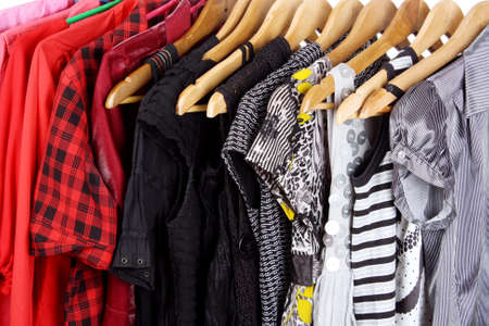 different clothes on hangers Stock Photo - 11220606