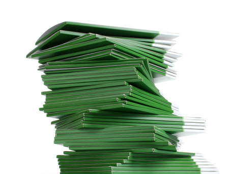 Many green folders isolated on white Stock Photo - 11337970