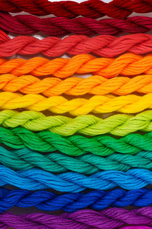 cornrows: sewing threads for embroidery closeup Stock Photo