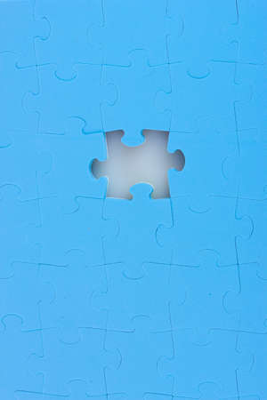 Blue puzzles closeup photo