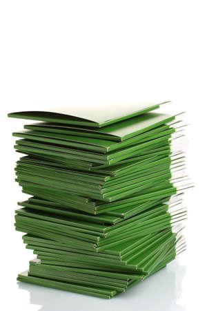 Many green folders isolated on white Stock Photo - 11406954
