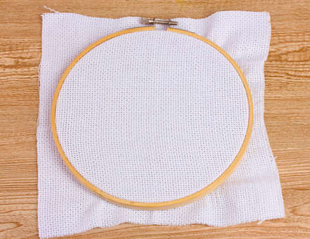 thread count: Embroidery hoop in the table