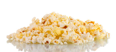 Popcorn isolated on white photo