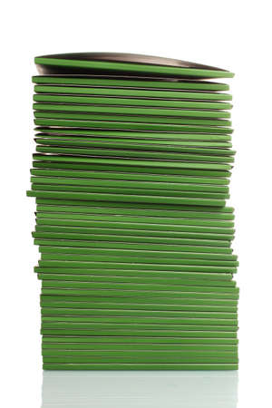 Many green folders isolated on white Stock Photo - 11492573