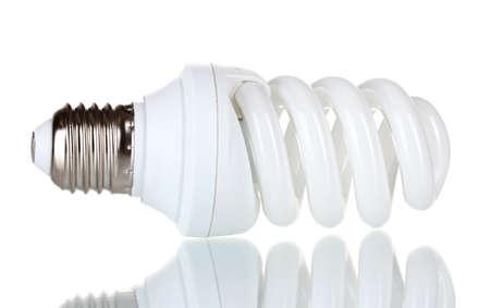 Energy saving lamp isolated on white photo