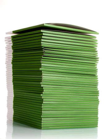 Many green folders isolated on white photo