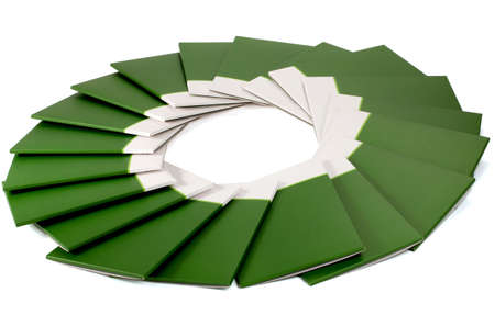 Many green folder isolated on white photo