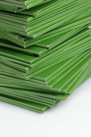 Many green folders closeup Stock Photo - 11668777