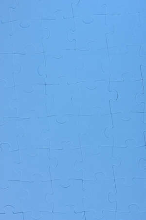Background- puzzle in blue photo