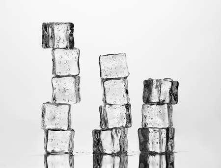 Melting ice cubes isolated on white Stock Photo - 11757816