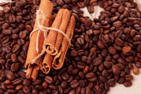 Coffee  and vanilla background photo
