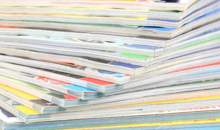 stack of magazines closeup photo