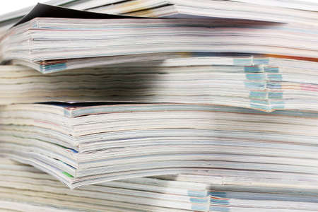stack of magazines closeup Stock Photo - 11794682