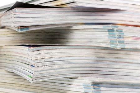 stack of magazines closeup photo