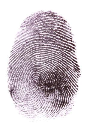 robando: Huella digital aislado en blanco