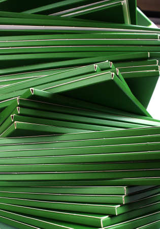 Many green folders closeup Stock Photo - 11904237