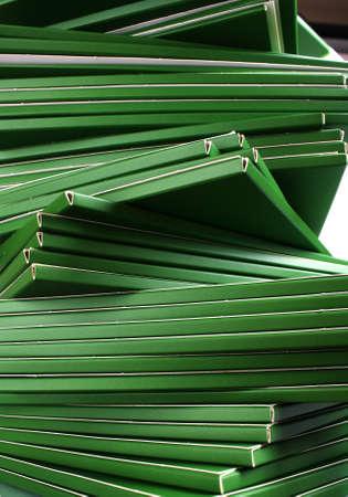 Many green folders closeup Stock Photo - 11904237