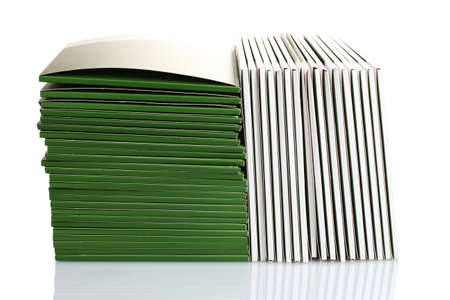 Many green folders isolated on white photo