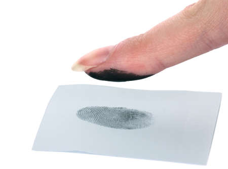 fingerprinted: Fingerprint isolated on white