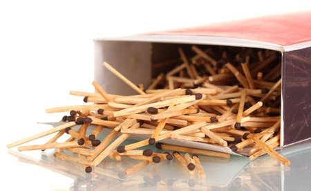 box of matches isolated on white Stock Photo - 11903864